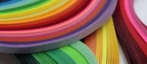 colorful quilling strips